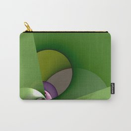 Abstract geometric round shapes on green Carry-All Pouch