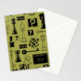 Brain Teaser pattern Stationery Cards