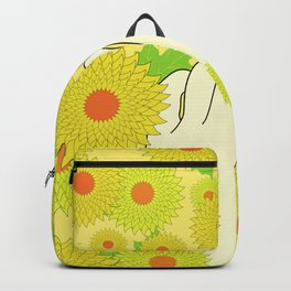 Hand and Flowers Backpack