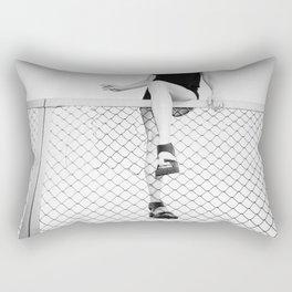 Hoping Fences Rectangular Pillow