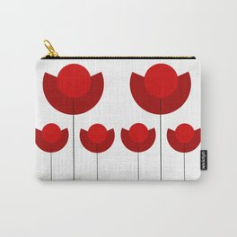 Simple red Tulips Carry-All Pouch