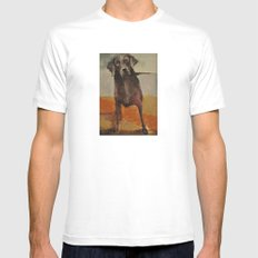 Funny Black Lab Mens Fitted Tee MEDIUM White