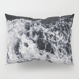Waves #dark Pillow Sham