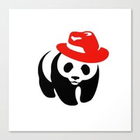 panda Canvas Prints featuring Panda by ArtSchool