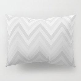 Chevron Fade Grey Pillow Sham