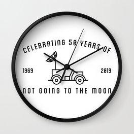 MOON LANDING, 50 YEARS, ROVER Wall Clock