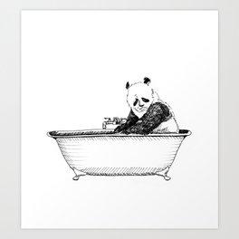 Panda in a tub. Art Print