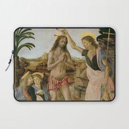 "Andrea del Verrocchio andd Leonardo da Vinci ""Baptism of Christ"" Laptop Sleeve"