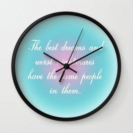 Best Dreams Wall Clock