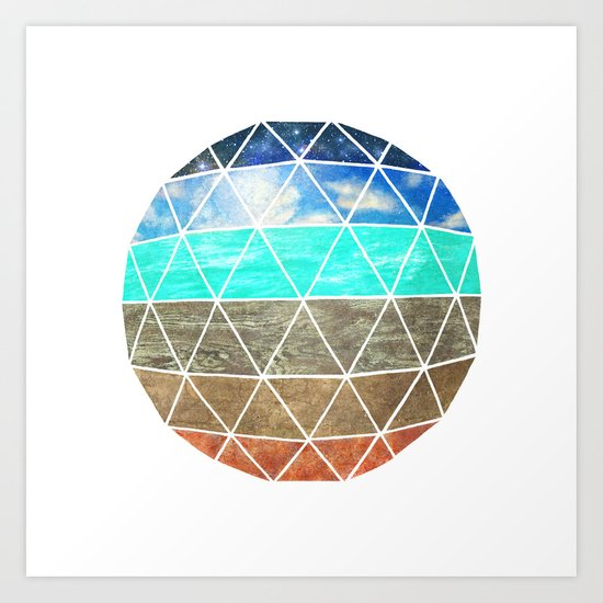 Elemental Geodesic  Art Print