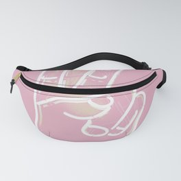Pastel Pink Hand Sign Fanny Pack