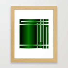 stripe green background with bright Framed Art Print
