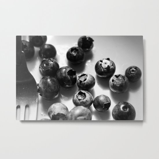 Morning Blueberries Metal Print