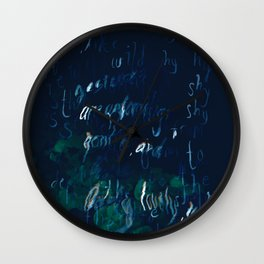 """""""Conquest of the Useless"""" by Werner Herzog Print (v. 9) Wall Clock"""