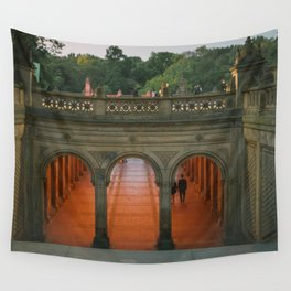 New York City Central Park Romance Wall Tapestry