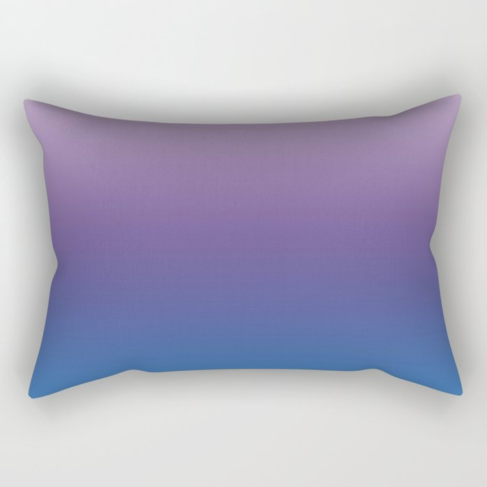 Ultra Violet Blue Lilac Ombre Gradient Pattern Rectangular Pillow