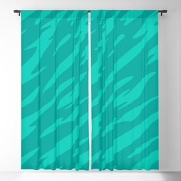 Bold and Beautiful Green Abstract Striped Pattern Blackout Curtain