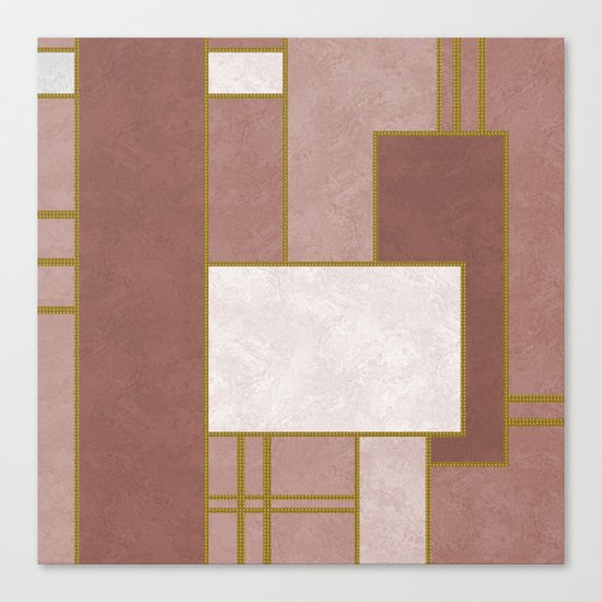 ABSTRACT GEOMETRIC 02 (marble) Canvas Print