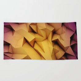 3D Low Poly 1 Beach Towel