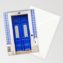 Portugal Door Photography, Blue Door, Portuguese Azulejo, Lisbon Tiles Stationery Cards