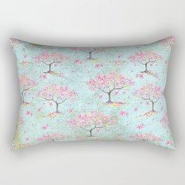 Spring Flowers - Cherry Blossom  Tree Pattern Rectangular Pillow