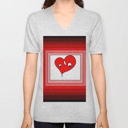 Lover heart  Unisex V-Neck