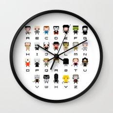 Horror Movies Alphabet Wall Clock