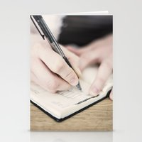 write Stationery Cards featuring WRITE by Marte Stromme