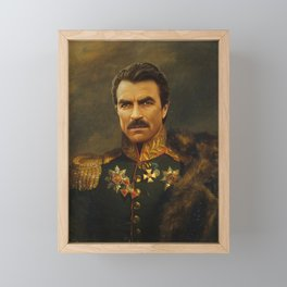 Tom Selleck - replaceface Framed Mini Art Print
