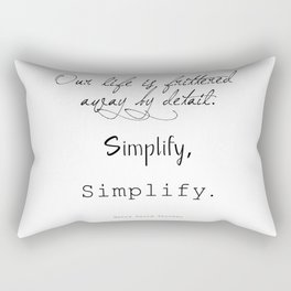 Simplify Quote Rectangular Pillow