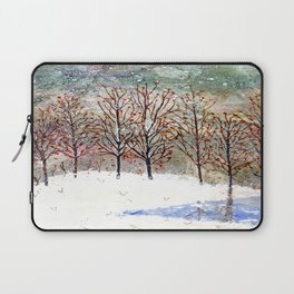 Snowy Trees along Moon Lake in Dewdrop Holler Laptop Sleeve