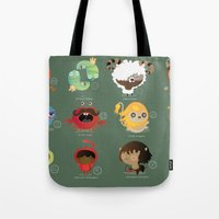 zodiac Tote Bags featuring The zodiac by Maria Jose Da Luz