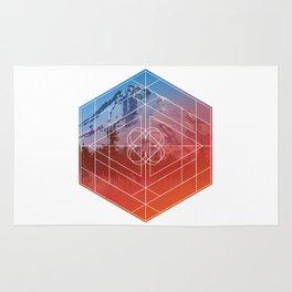 Mount Hood Hexagon Rug