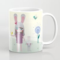 friendship Mugs featuring Friendship by Esther Ilustra