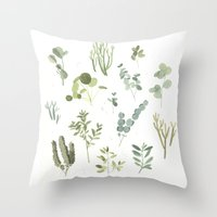 plants Throw Pillows featuring Plants  by Maggie Chiang