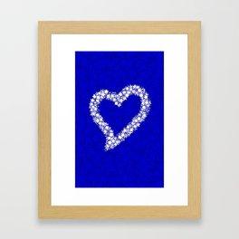 HEART GALAXY BLUE Framed Art Print