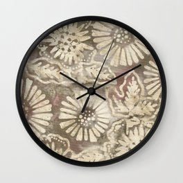 Coconut Batik 05 Wall Clock