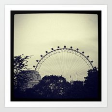 'LONDON EYE' Art Print