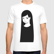 normal girl  MEDIUM Mens Fitted Tee White