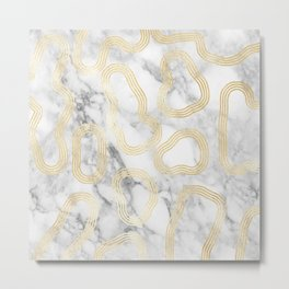 Marble Gold Session III-X Metal Print