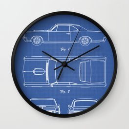 PONTIAC GTO patent print, pontiac gto poster, muscle car decor, pontiac gto blueprint Wall Clock