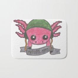 Leucistic Axolotl Bath Mat