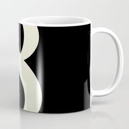 8 (BEIGE & BLACK NUMBERS) Coffee Mug