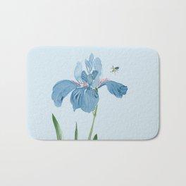 Blue Iris and Bee Bath Mat