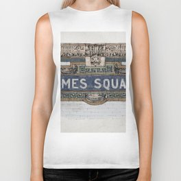 Times Square Subway New York, Tile Mosaic Sign Biker Tank