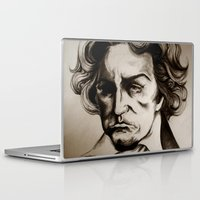 beethoven Laptop & iPad Skins featuring Ludwig van Beethoven by Lord Marshall