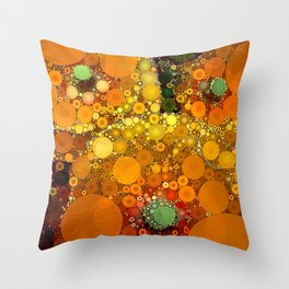 Sunset Poppies Throw Pillow