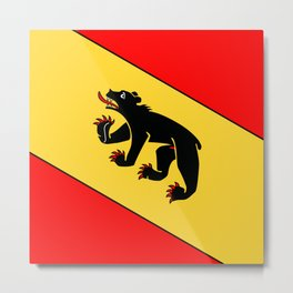 Bern Bear - Swiss City and Canton Crest Metal Print