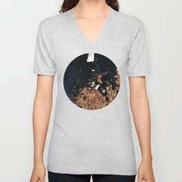 Alien Continents ruined wall texture grunge Unisex V-Neck