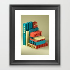 Typographic Insults #6 Framed Art Print